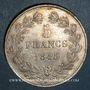 Monnaies Louis Philippe (1830-1848). 5 francs 1845W. Lille