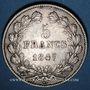 Monnaies Louis Philippe (1830-1848). 5 francs 1847A