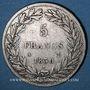 Monnaies Louis Philippe (1830-1848). 5 francs sans le I, tranche en relief 1830 A