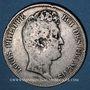 Monnaies Louis Philippe (1830-1848). 5 francs sans le I, tranche en relief 1830A