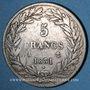Monnaies Louis Philippe (1830-1848). 5 francs, tranche en relief, 1831 A