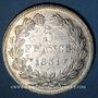 Monnaies Louis Philippe (1830-1848). 5 francs, tranche en relief, 1831W. Lille