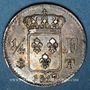Monnaies Louis XVIII (1815-1824). 1/4 franc 1817 T. Nantes