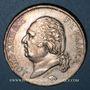 Monnaies Louis XVIII (1815-1824). 5 francs buste nu 1821W. Lille