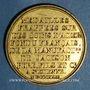 Monnaies Louis XVIII (1815-1824). Module de 5 francs 1823. Essai de Galle. Cuivre doré