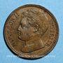Monnaies Napoléon II (1811-1832). 3 centimes 1816. Essai. Bronze