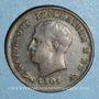 Monnaies Royaume d'Italie. Napoléon I (1805-1814). 3 centesimi 1er type, 1808 B. Bologne