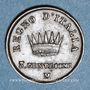 Monnaies Royaume d'Italie. Napoléon I (1805-1814). 3 centesimi, 2e type, 1813M. Milan