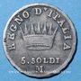 Monnaies Royaume d'Italie. Napoléon I (1805-1814). 5 soldi 1809M. Milan