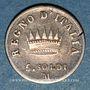 Monnaies Royaume d'Italie. Napoléon I (1805-1814). 5 soldi 1810M. Milan