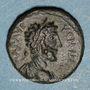 Monnaies Commode (177-192). Bronze. Neapolis. R/: Tyché en habit militaire