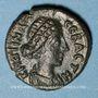 Monnaies Crispine, épouse de Commode († 217). Bronze. Gadara (Syrie) 243 (= 179-180)