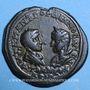 Monnaies Gordien III et Tranquilline. Bronze. Odessus (Thrace). Bustes affrontés de Gordien et Tranquilline