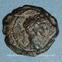 Monnaies Hadrien (117-138). Petit bronze. Alexandrie, an 14 (129-130). R/: couronne d'Isis