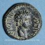 Monnaies Néron (54-68) et Mindios, strategos. Petit bronze, vers 60. Sardis (Lydie)
