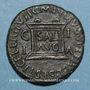 Monnaies Tibère (14-37). As. Ilici (Hispanie). R/: autel
