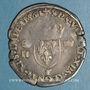 Monnaies Charles IX (1560-1574). Monnayage au nom de Henri II. Teston, 2e type, 1561 T. Nantes