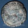 Monnaies Charles IX (1560-1574). Monnayage en son nom. Teston, 3e type, 1568L. Bayonne