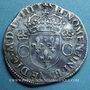 Monnaies Charles IX (1560-1574). Teston, 1er type, 1563 E. Tours