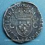 Monnaies Charles IX (1560-1574). Teston, 1er type, 1563 T. Nantes