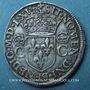 Monnaies Charles IX (1560-1574). Teston, 1er type, 1565 R. Villeneuve-les-Avignon