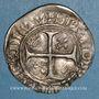 Monnaies Charles VI (1380-1422). Blanc dit Guénar à l'O rond, 4e émission (1411). Sainte-Menehould