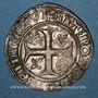 Monnaies Charles VI (1380-1422). Blanc dit Guénar à l'O rond, 4e émission (1411). Tournai (annelet 16e)