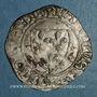 Monnaies Charles VI (1380-1422). Blanc guénar à l'O rond, 2e émission (1389). La Rochelle