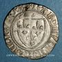 Monnaies Charles VI (1380-1422). Blanc guénar à l'O rond, 2e émission (1389). Saint-Lô