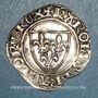 Monnaies Charles VI (1380-1422). Blanc guénar à l'O rond, 2e émission (1389). Troyes