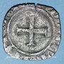 Monnaies Charles VI (1380-1422). Double tournois dit niquet frappé à Dijon (point 13e avers et revers)