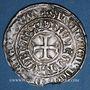 Monnaies Charles VI (1380-1422). Gros aux lis sous une couronne. Châlon-sur-Marne
