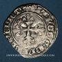 Monnaies Charles VI (1380-1422). Gros dit florette, 3e émission (7 mars 1419). Paris (point 17e au revers)