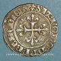 Monnaies Charles VI (1380-1422). Gros dit florette, 3e émission (7 mars 1419). Paris, point 17e /revers