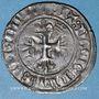 Monnaies Charles VI (1380-1422). Gros dit florette, 5e émission (2.7.1419). Chalons-sur-Marne (T tridentés)