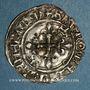 Monnaies Charles VI (1380-1422). Monnayage du dauphin Charles. Florette, 13e émission (1421). Angers