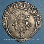 Monnaies Charles VI (1380-1422). Monnayage du dauphin Charles. Florette, 3e émission (1419). Romans