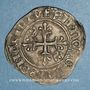 Monnaies Charles VI (1380-1422). Monnayage du dauphin Charles. Florette, 5e émission (1419). Tours