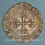 Monnaies Charles VI (1380-1422). Monnayage du dauphin Charles. Florette, 6e émission (sept. 1419). Poitiers