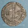 Monnaies Charles VI (1380-1422). Monnayage du dauphin Charles. Florette, 8e émission (1420). Crémieu