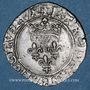 Monnaies Charles VI (1380-1422). Monnayage du duc de Bourgogne (1417-1423). Florette. Dijon (point 1er avers)