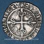 Monnaies Charles VI (1380-1422). Monnayage du duc de Bourgogne (1417-1423). Florette. Dijon (point 1er)