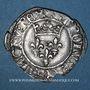Monnaies Charles VI (1380-1422); Monnayage du duc de Bourgogne (1417-1423). Florette. Troyes (annelet 14e)