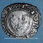 Monnaies Charles VI (1380-1422). Monnayage du duc de Bourgogne (1417-23) blanc dit Guénar à l'O rond, Mâcon