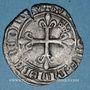 Monnaies Charles VI (1380-1422). Monnayage du duc de Bourgogne (1417-23). Florette. Dijon (point 1er av & rev