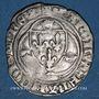 Monnaies Charles VII (1422-1461). Blanc à la couronne, 1ère émission. La Rochelle (annelet 9e)