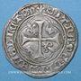 Monnaies Charles VII (1422-1461). Blanc à la couronne, 3e émission (26 mai 1447). Toulouse (annelet 5e)
