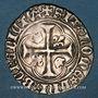 Monnaies Charles VII (1422-1461). Blanc à la couronne, 4e émission (16 juin 1455). Angers (point 7e)