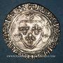 Monnaies Charles VII (1422-1461). Blanc à la couronne, 4e émission (16 juin 1455). Montpellier (point 4e)