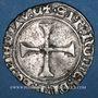 Monnaies Charles VII (1422-1461). Blanc au K dit des gens d'armes, 1ère émission. Chinon (a oncial...